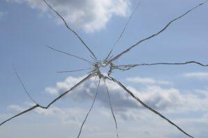 vitre cassé